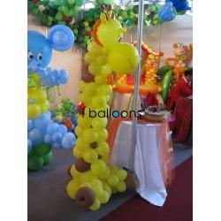 Καμηλοπάρδαλη παιδική για βάπτιση με θέμα Ζούγκλα!!! Μπαλόνια Βάπτισης Special