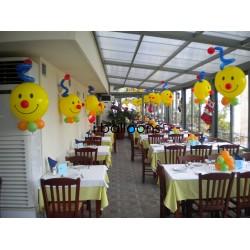 Μπαλόνια Bubble Smile, για τραπέζια δεξίωσης, στην Πάρνηθα Μπαλόνια Βάπτισης Δεξίωση